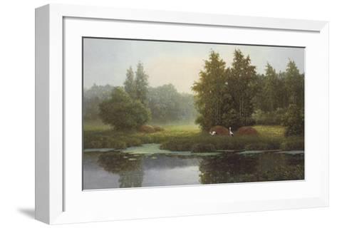 Russian Landscape with Storcks-Igor-Framed Art Print