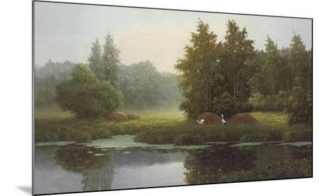 Russian Landscape with Storcks-Igor-Mounted Art Print
