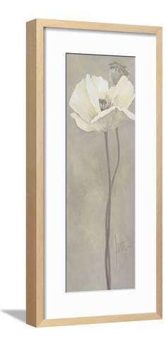 Poppy in White V-Jettie Roseboom-Framed Art Print