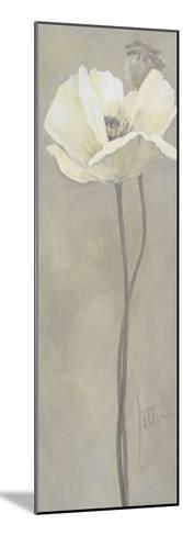 Poppy in White V-Jettie Roseboom-Mounted Art Print