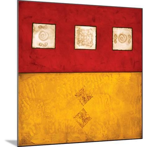 Horizontal Abstract Trio-Courtland-Mounted Art Print