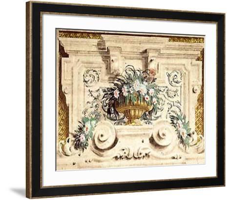 Affresco Con Fiori--Framed Art Print