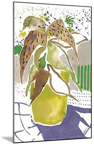 Plant Outline I-Lola Soto-vicario-Mounted Art Print