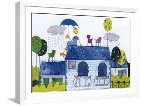 Tejados II-Marta Arnau-Framed Art Print