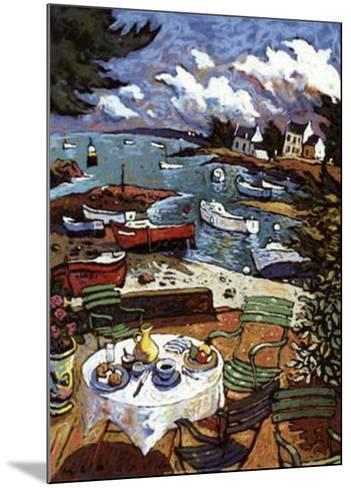 La Terrasse-Morlaine-Mounted Art Print