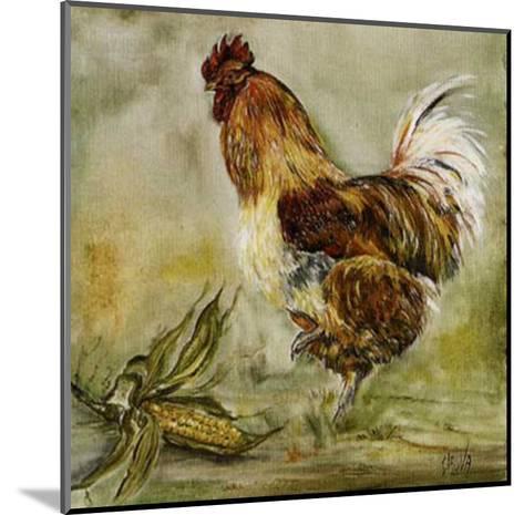 Coq et Mais-Clauva-Mounted Art Print