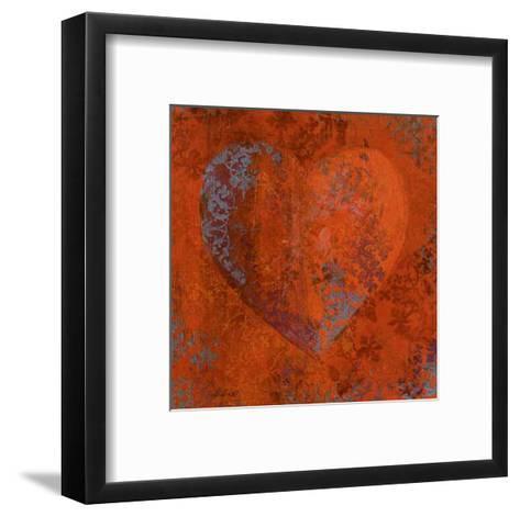 Cuore Orange-Roberta Ricchini-Framed Art Print