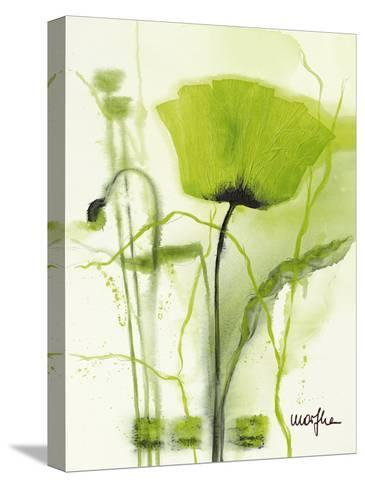 Coquelicot Vert II-Marthe-Stretched Canvas Print