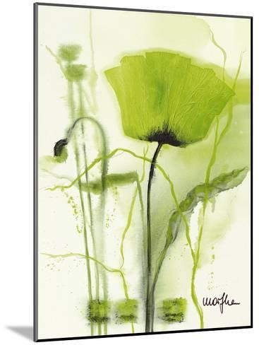 Coquelicot Vert II-Marthe-Mounted Art Print