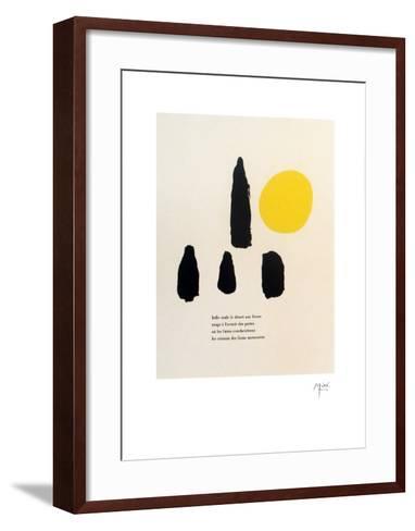 Illustrated Poems-Parler Seul-Joan Mir?-Framed Art Print