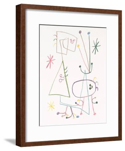 Parler Seul, 1947-Joan Mir?-Framed Art Print