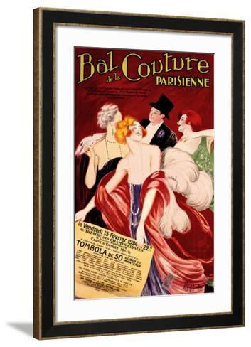 Bal de la Couture Parisienne-Leonetto Cappiello-Framed Art Print