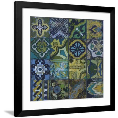 Cobalt Mosaic II-John Douglas-Framed Art Print