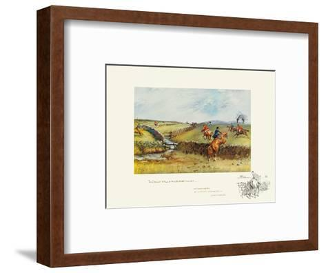 The Biggest Walls In The Country Was In-Snaffles-Framed Art Print