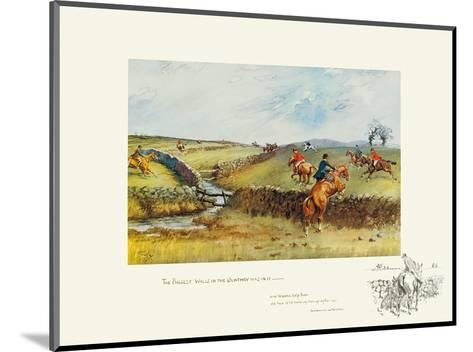 The Biggest Walls In The Country Was In-Snaffles-Mounted Premium Giclee Print
