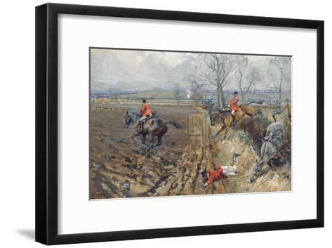 The Duke of Rutland's Hounds-Lionel Edwards-Framed Art Print