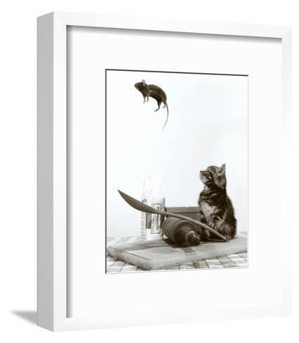 Cat and Mouse--Framed Art Print