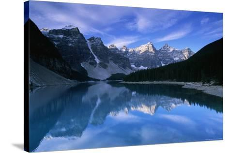 Lake Moraine-Charlie Munsey-Stretched Canvas Print