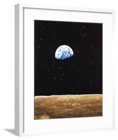Earth Rise from Moon--Framed Art Print