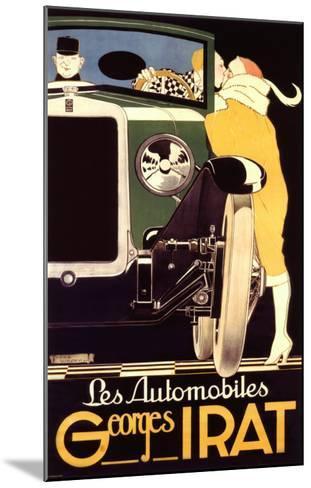 Autos George Irat--Mounted Giclee Print