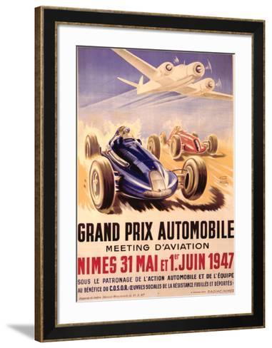 Grand Prix Automobile Meeting-Geo Ham-Framed Art Print