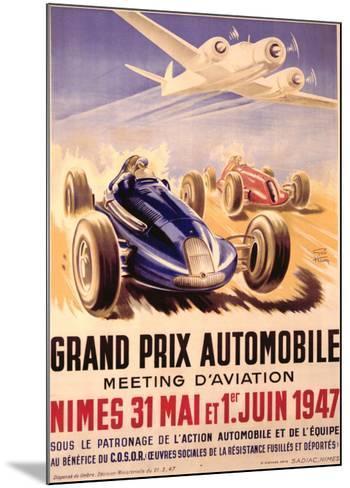 Grand Prix Automobile Meeting-Geo Ham-Mounted Giclee Print