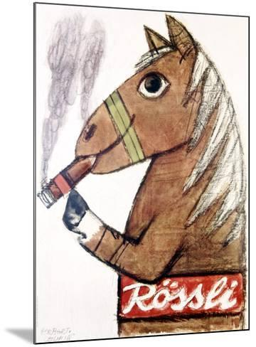 Rossli Cigars-Herbert Leupin-Mounted Giclee Print