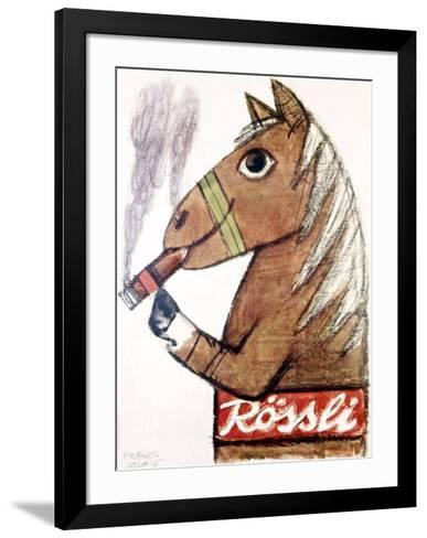 Rossli Cigars-Herbert Leupin-Framed Art Print