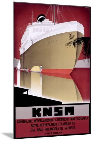 KNSM-Willem Ten Broek-Mounted Giclee Print