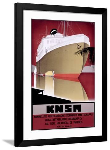 KNSM-Willem Ten Broek-Framed Art Print