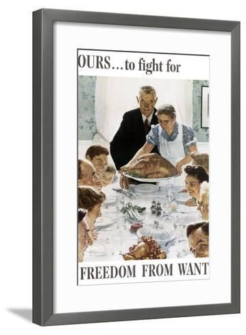 Ours to Fight for Freedom from Want--Framed Art Print