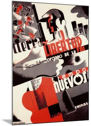 Spanish Revolution, Labor Force--Mounted Giclee Print