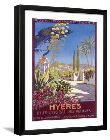 Hyeres, French Riviera-Georges Dorival-Framed Art Print