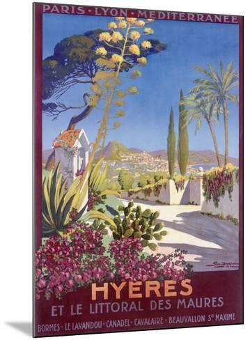 Hyeres, French Riviera-Georges Dorival-Mounted Giclee Print