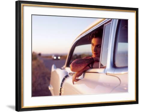 Pin-Up Girl: Cadillac Tattoo-David Perry-Framed Art Print