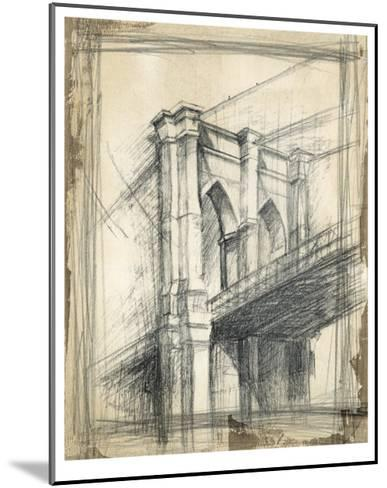 Brooklyn Bridge-Ethan Harper-Mounted Premium Giclee Print
