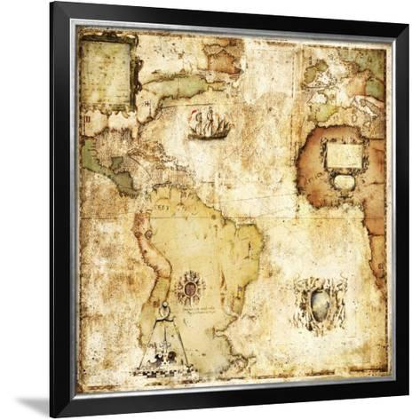 Map of Discovery-Paul Panossian-Framed Art Print