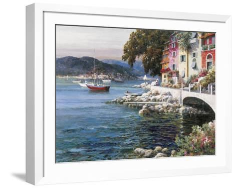 Seaside Terrace-F Lotte-Framed Art Print
