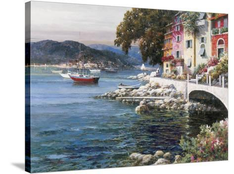 Seaside Terrace-F Lotte-Stretched Canvas Print