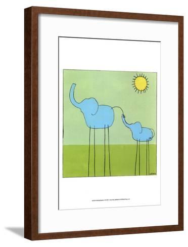Stick-leg Elephant II-Erica J. Vess-Framed Art Print