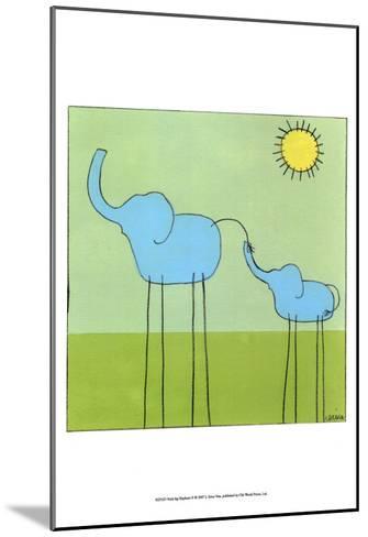 Stick-leg Elephant II-Erica J. Vess-Mounted Art Print