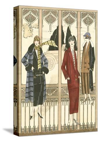 Art Deco Elegance III--Stretched Canvas Print