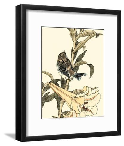 Oriental Bird on Branch II--Framed Art Print
