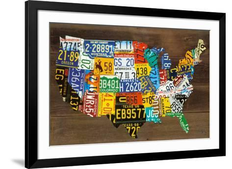 USA Map II-Aaron Foster-Framed Art Print