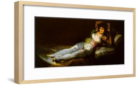 The Clothed Maja-Francisco de Goya-Framed Art Print