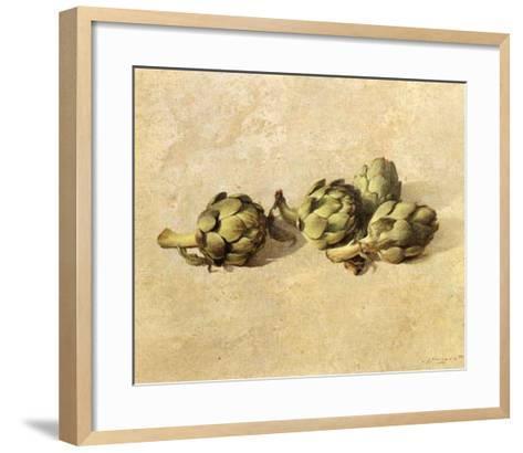 Artichokes-Joaquin Moragues-Framed Art Print