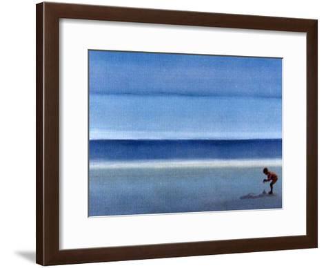 On a Solitary Beach III-M^ Bineton-Framed Art Print