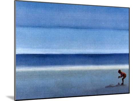 On a Solitary Beach III-M^ Bineton-Mounted Art Print