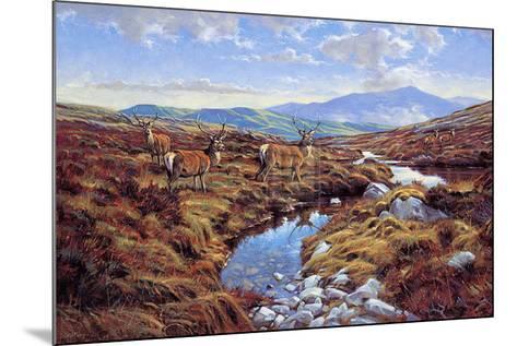 Stags-Peter Munro-Mounted Art Print