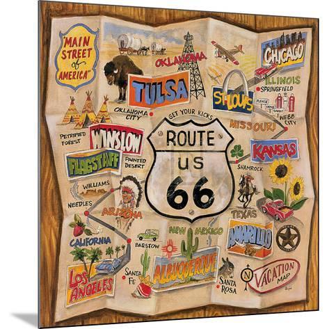 Route 66-Karen Dupr?-Mounted Art Print